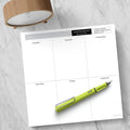 Executive Weekly Square Schedule Pad