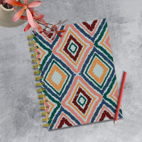 Ikat Boho Chic Spiral Lined Journal