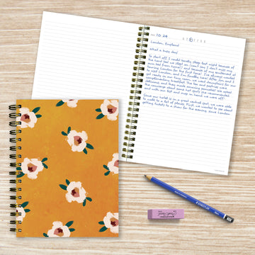 Sahara Floral Boho Spiral Lined Journal