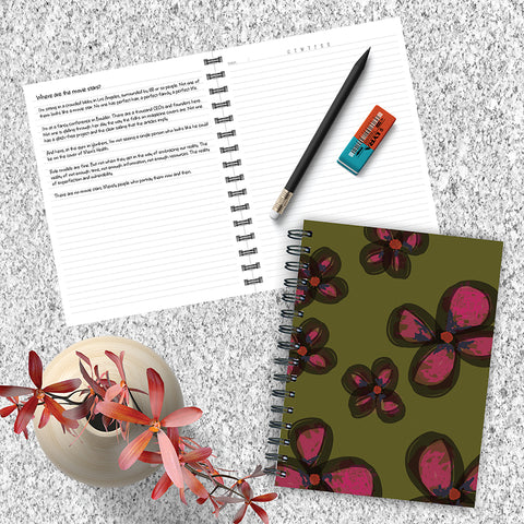 PRESALE - Painted Flowers Spiral Journal - BOLD MOVES COLLECTION