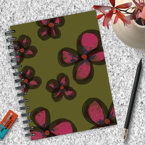 Painted Flowers Spiral Journal - BOLD MOVES COLLECTION