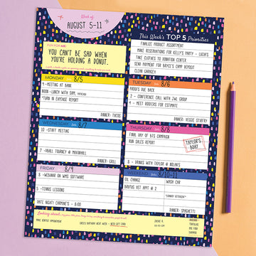 Bright Week Large Weekly Task Pad