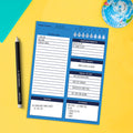 Bright Blue Day Daily Task Pad