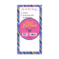 Bright Stripes Memo Magnet Pad