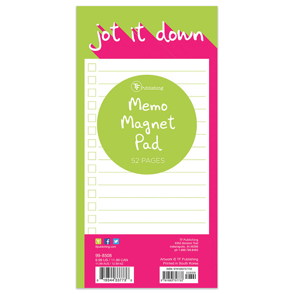 Pop Art Magnet Memo Pad