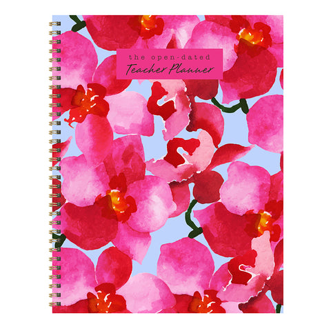 Floral Open Dated W/M Teacher Lesson Planner