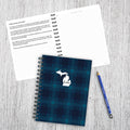 Michigan Blue Plaid Journal