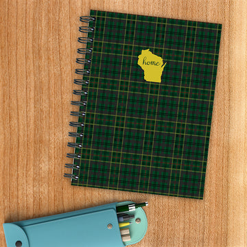 Wisconsin Green Plaid Journal