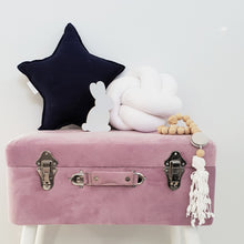 Load image into Gallery viewer, Velvet Storage Stool - Violet