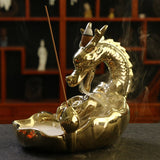 PORTE-ENCENS DRAGON<br /> OR