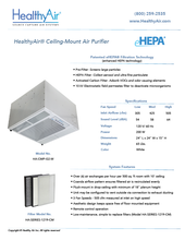 Ceiling-Mount Air Purifier - HealthyAir®