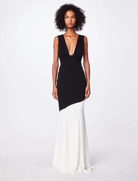 Nicole Miller - Plunge Gown Dress