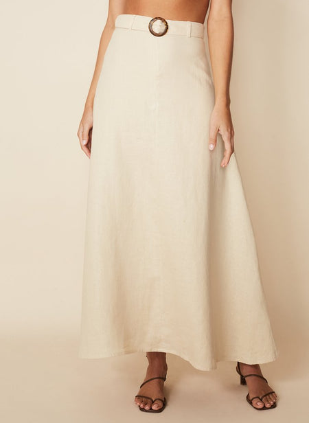 Faithfull The Brand - Devon Midi Skirt in Sand