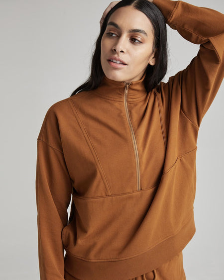 Richer Poorer - Terry Half Zip Pullover