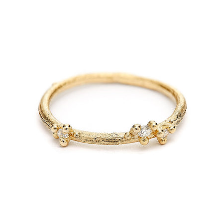 Ruth Tomlinson - Asymmetric Diamond Encrusted Band - Small