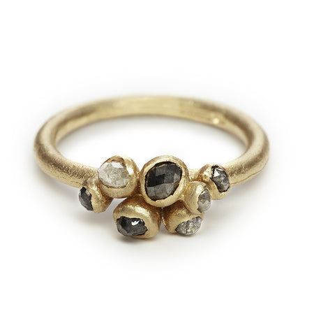 Ruth Tomlinson - Grey Diamond Cluster Ring