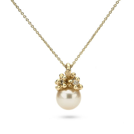 Ruth Tomlinson - Encrusted Pearl Pendant - small