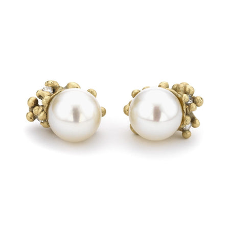 Ruth Tomlinson -  Pearl Encrusted Studs - Bernstein & Gold