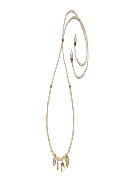 Lizzie Fortunato - Amulet Necklace in Champagne