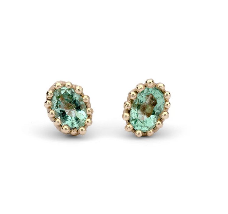 Ruth Tomlinson - Emerald Stud Earrings N