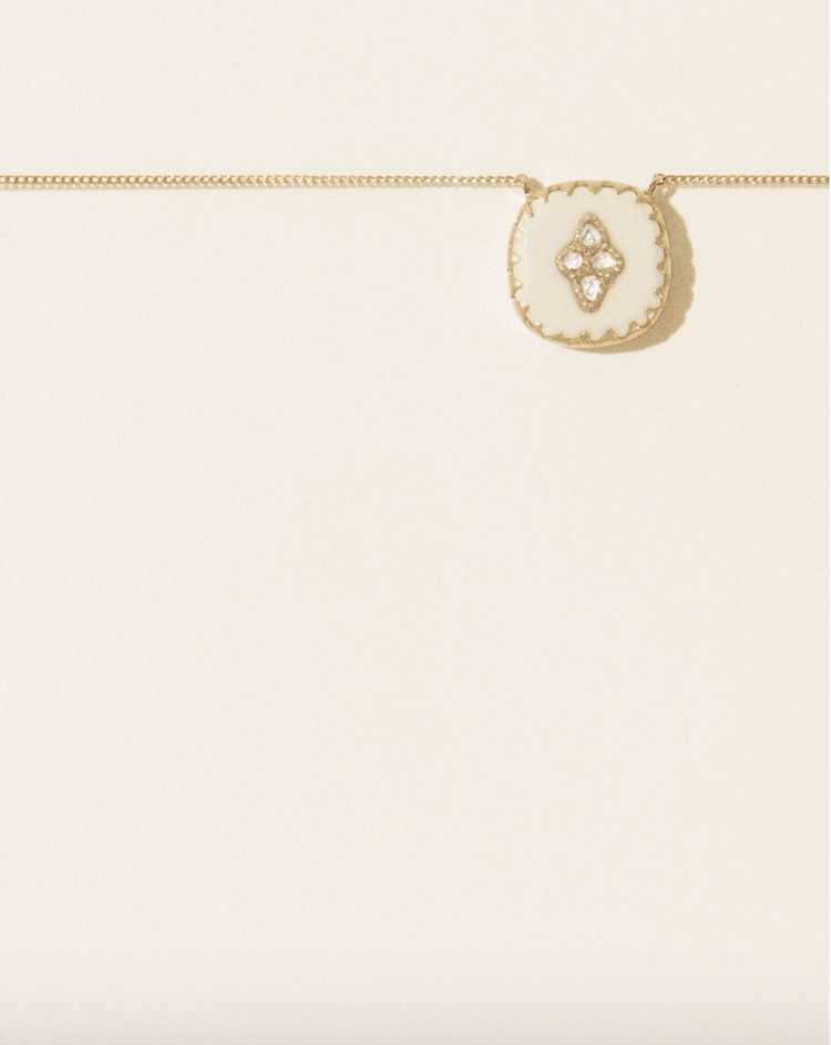 Pascale Monvoisin - Pierrot N°2  Necklace White