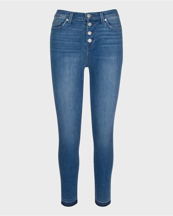 7 for all mankind - HW Ankle Skinny Button Front