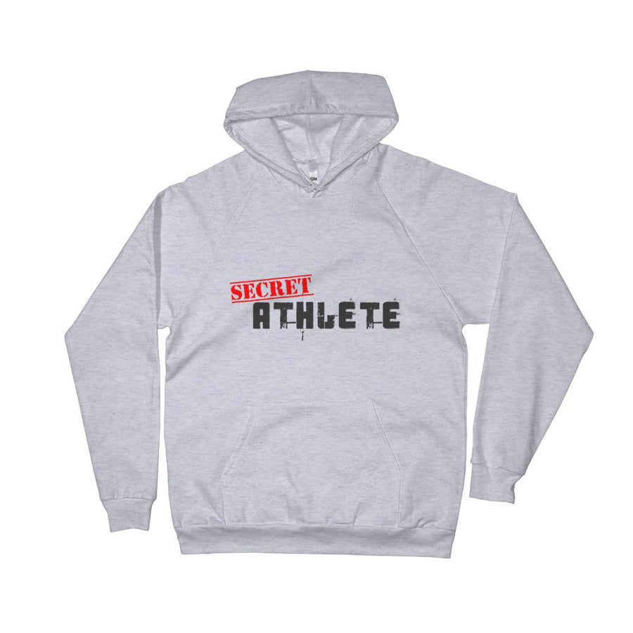 Secret Athlete White Fleece Hoodie