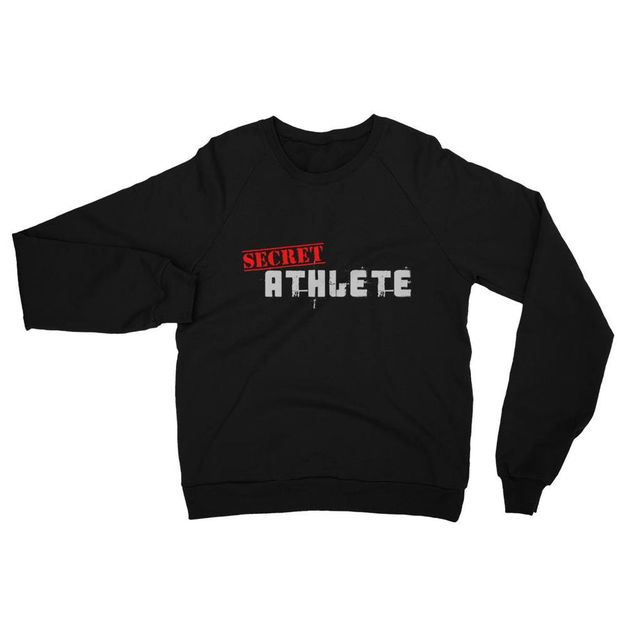Secret Athlete Black California Fleece Raglan Sweatshirt - Secret Athlete