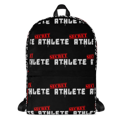 Secret Athlete Black Backpack - Secret Athlete