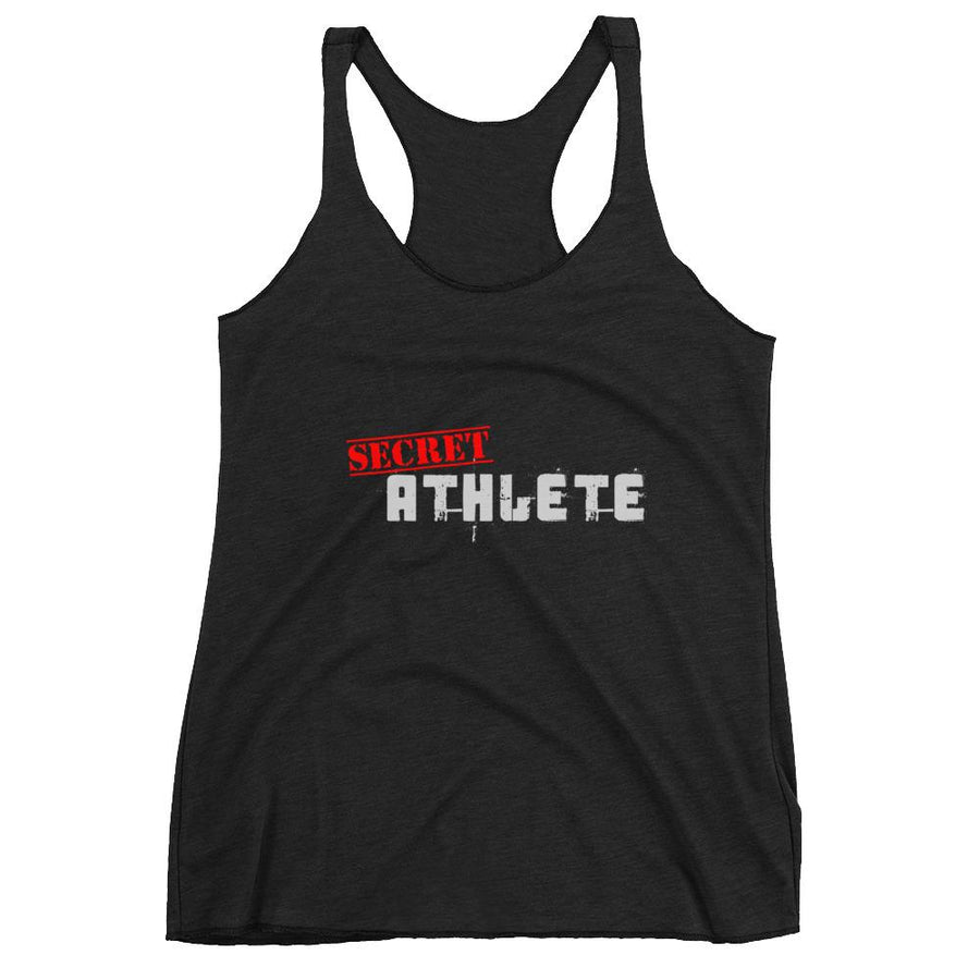 Secret Athlete Black Racerback Tank - Secret Athlete