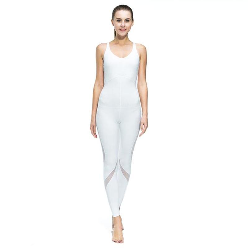 One Piece Breathable Meshed Splice Jumpsuit - Secret Athlete