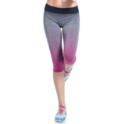 Faded Gradient Elasticated Sports Capri - Secret Athlete