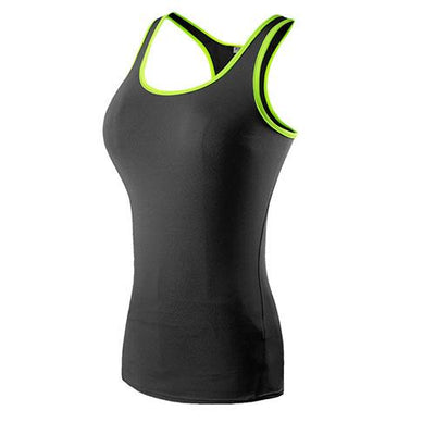 Neon Trimmed Slim Fitted Sports Vest - Secret Athlete