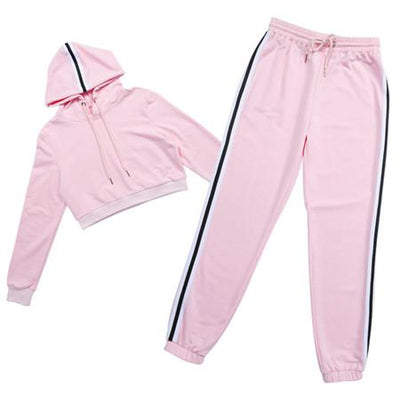 Cropped 2 Piece Fitness Tracksuit - Secret Athlete