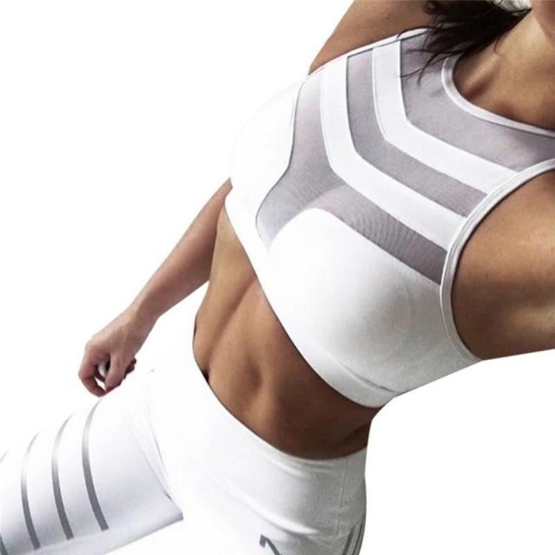 2 Piece Compression Fitted Meshed Gym Set - Secret Athlete