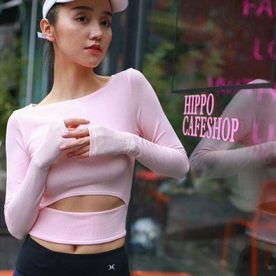 Quick Drying Long Sleeved Thumb Holed Crop - Secret Athlete