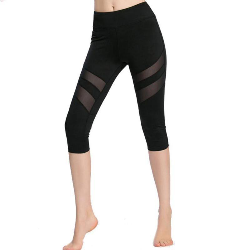 Mesh Vented Elastic Capri - Secret Athlete