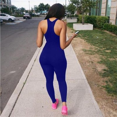 One Piece Racerback Running Jumpsuit - Secret Athlete