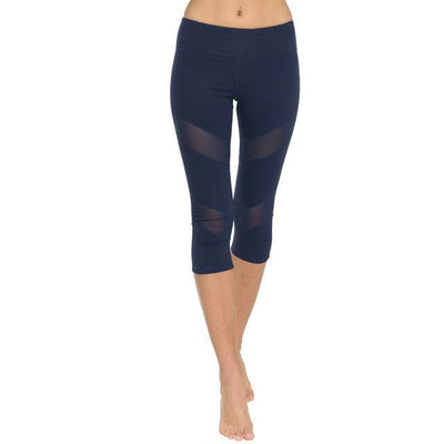 Breathable Mesh Vented Active Capri - Secret Athlete