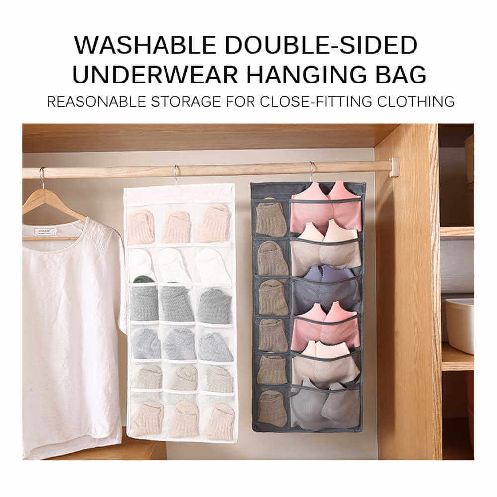 Bra Organizer with Metal Hanger Dual Sided Bra Storage (BUY 1 TAKE 1 )