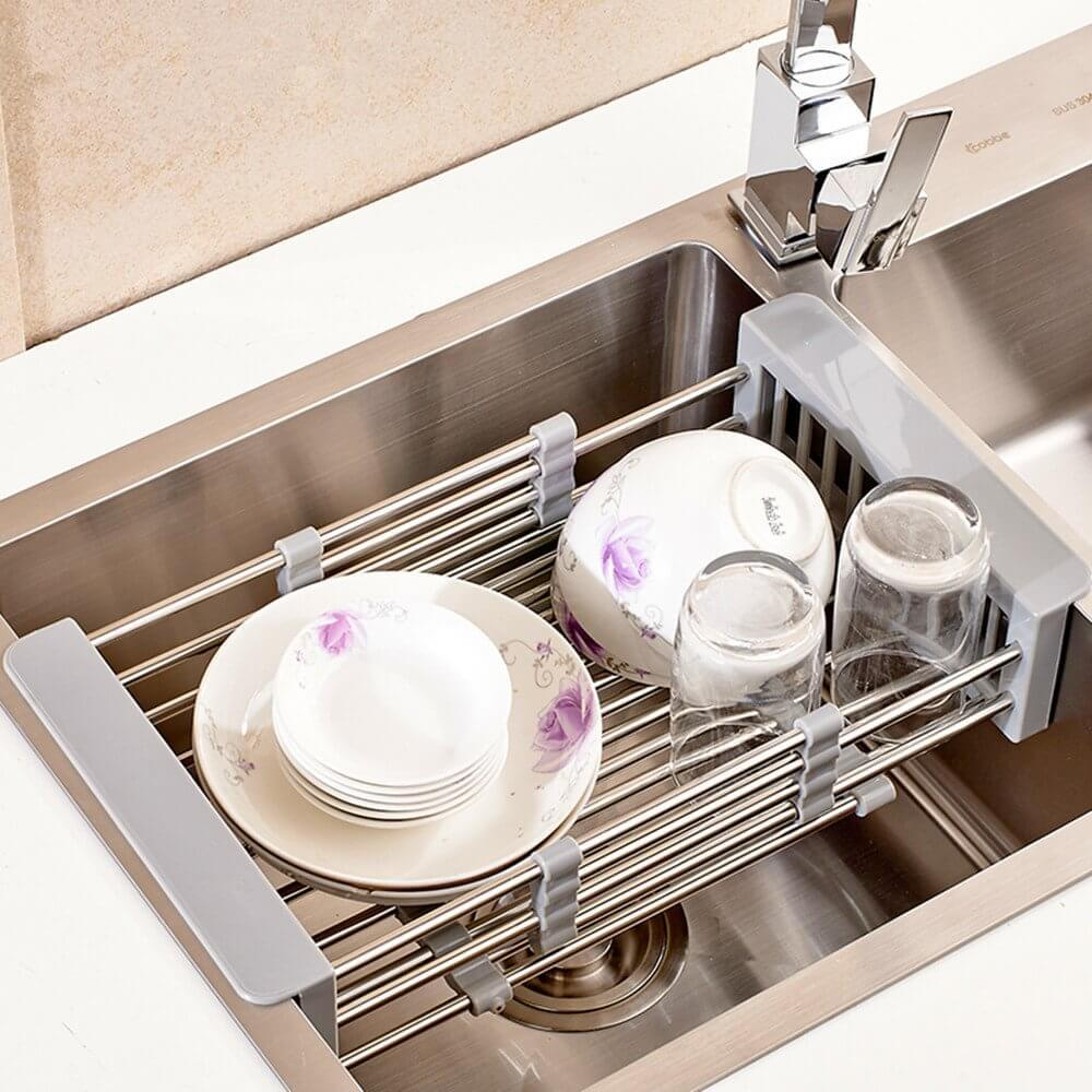 Adjustable Stainless Steel Drainer Basket