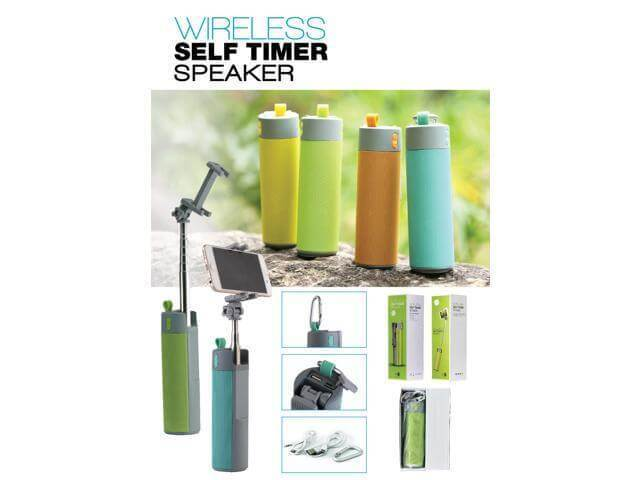 Portable Wireless Bluetooth Speaker, Selfie Stick, and Power Bank For iPhone & Android