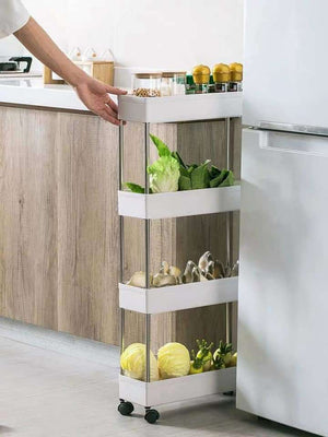 4-Tier Slim Storage Cart