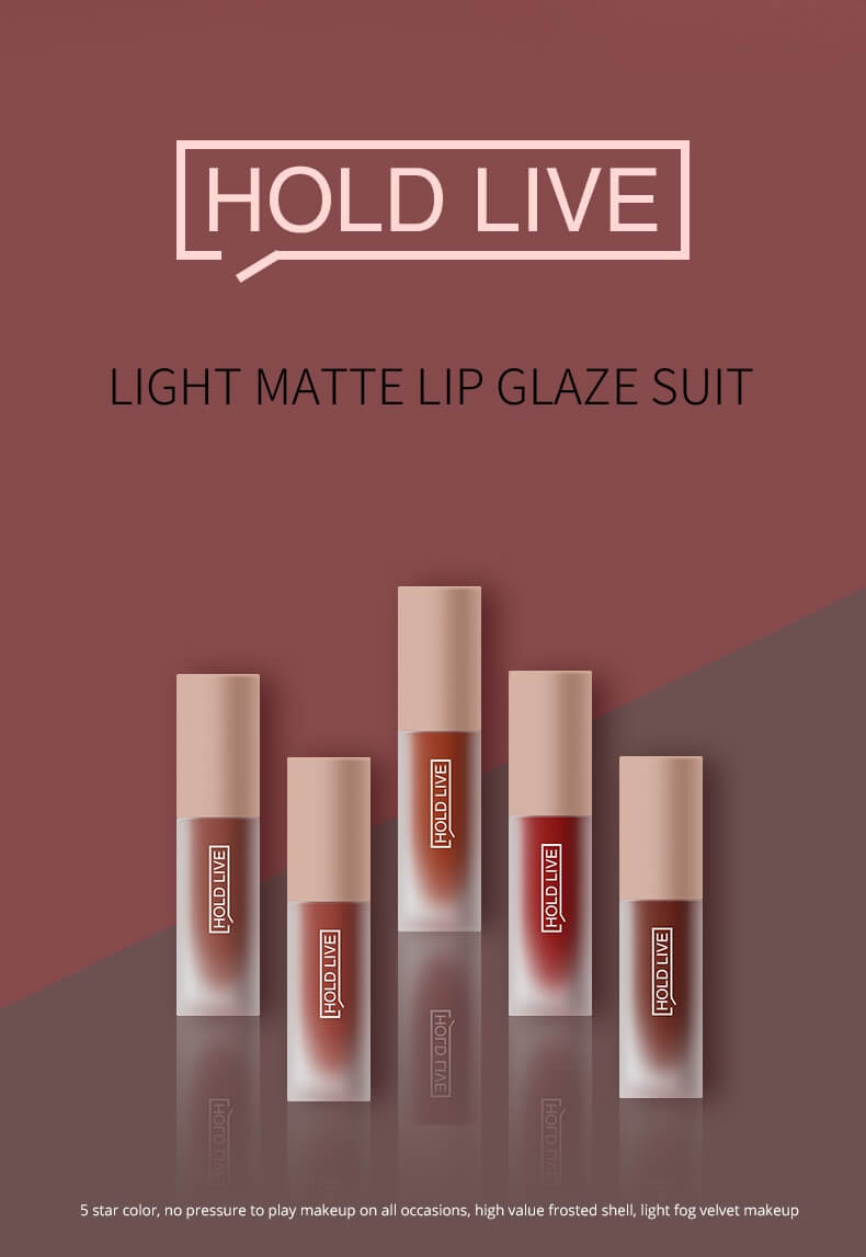 5 Colors Light Matte Lip Glaze Suit