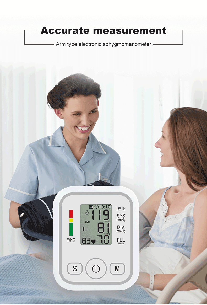 Accurate Digital Wrist Blood Pressure Pulse & Tonometer Monitor Heart Beat Meter