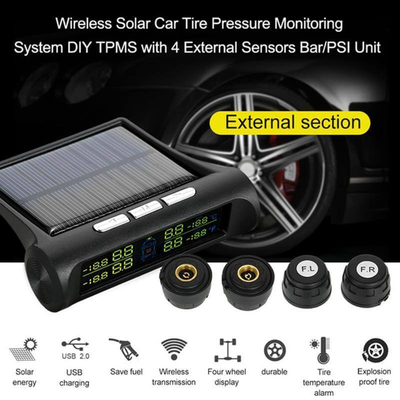 Solar LCD Display Tire Pressure Monitoring System
