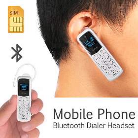 World's Smallest Mini Phone + Bluetooth Headset