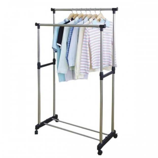 Space-Saving Clothing Hanging Rack