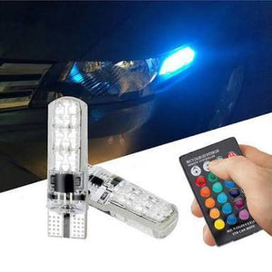 T10 12 Colors LED Bulb w/ Remote