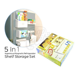 5 in 1 Magnetic Refrigerator Shelf Storage Rack